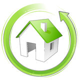 Wenig grünes Haus Stockbild