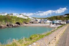 Wenig Hafen Wales Stockfotografie