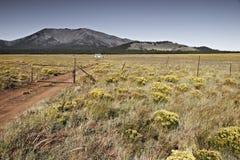Wenig Haus auf dem Grasland, Arizona USA lizenzfreies stockfoto