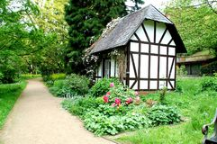 Wenig Haus im ` botanischer Garten ` in Kiel lizenzfreie stockfotografie