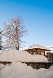 Wenig Haus im Winter Stockbilder