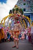 Wenig Indien - Singapur, 7. Februar 2012: Ein eifriger Anhänger in Thaipusa Lizenzfreie Stockfotografie