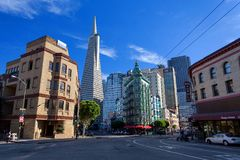 Wenig Italien, Finanzbezirk, im Stadtzentrum gelegenes San Francisco, Vereinigte Staaten Lizenzfreie Stockfotografie