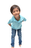 Wenig 6 Jahre Jungenmischungsporträtlächeln lizenzfreies stockfoto