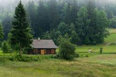 Wenig Kabine im Holz Lizenzfreie Stockfotos