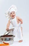 Wenig kochen. lizenzfreie stockbilder