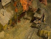 Wenig Kohle-Stadtbaumuster Eisenbahn Lizenzfreie Stockfotografie