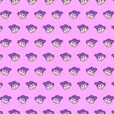 Wenig Mädchen - emoji Muster 23 vektor abbildung