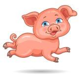 Wenig nettes rosa piggy stock abbildung