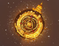 Wenig Planet des Winters in Russland Weihnachtshintergrund: St Petersburg am Winterabend Stockbilder