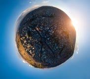 Wenig Planetenpanorama der Stadt von La Paz stockfotografie