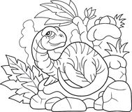 Wenig plesiosaur, lustige Illustration stock abbildung