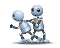 Wenig Roboterwiderstand anderer Roboter lizenzfreies stockfoto