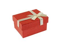 Wenig roter Geschenkkasten Lizenzfreies Stockfoto