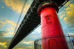 Wenig roter Leuchtturm Lizenzfreie Stockfotografie