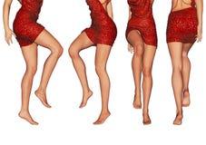 Wenig rotes Kleid Stockbild