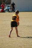 Wenig Rugby-Spieler Stockfoto