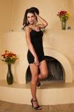 Wenig schwarzes Kleid Stockfotografie