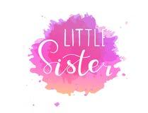 Wenig Schwester, Entwurf für Babyt-shirts, onesie stock abbildung