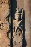 Wenig Statuette Abtei Shwe Inbin Stockfotografie