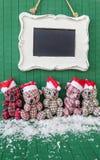 Wenig teddybears mit Sankt-Hüten Lizenzfreie Stockfotos