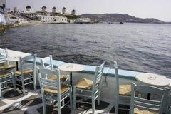 Wenig Venedig auf Mykonos Stockfoto