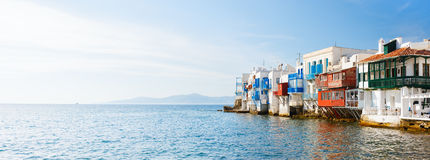 Wenig Venedig auf Mykonos-Insel, Griechenland stockbild