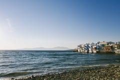 ` wenig Venedig-` bei Mykonos, Griechenland stockbild