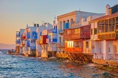 Wenig Venedig in Mykonos Lizenzfreie Stockfotos