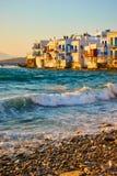 Wenig Venedig in Mykonos-Insel Lizenzfreies Stockfoto