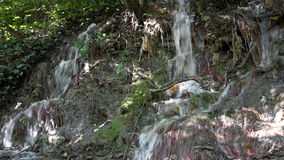 Wenig Wasserfallnaturszene stock video footage