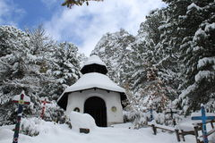 Wenig weiße Kapelle Stockfoto
