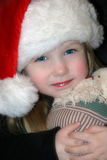 Wenig Weihnachtsmädchen lizenzfreies stockbild