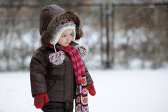 Wenig Winter-Baby Lizenzfreies Stockbild