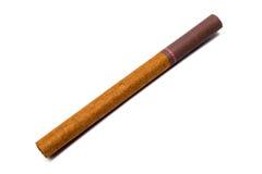 Wenig Zigarre mit dem Filter lokalisiert auf weißem Hintergrund Stockfotografie