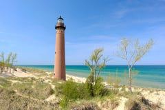 Wenig Zobel-Punkt-Leuchtturm in den Dünen, im Jahre 1867 errichtet Lizenzfreies Stockbild