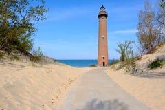 Wenig Zobel-Punkt-Leuchtturm in den Dünen, im Jahre 1867 errichtet Stockfoto