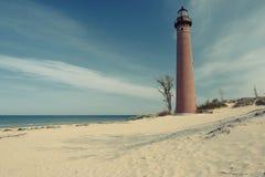 Wenig Zobel-Punkt-Leuchtturm in den Dünen, im Jahre 1867 errichtet Stockfotos