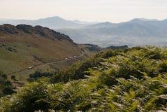 Wenig Zug zur Spitze von La Rhune. Lizenzfreie Stockbilder