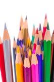 Wenige Bleistifte in der Schale Stockfoto