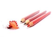 Wenige Bleistifte getrennt lizenzfreie stockfotos
