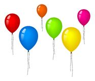 Wenige färben Ballone Lizenzfreie Stockbilder