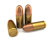 Wenige Gewehrkugeln Stockfotos