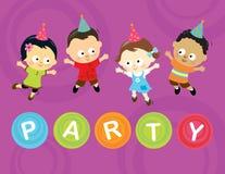 Wenige Partykinder Lizenzfreie Stockfotografie