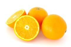 Wenige saftige Orangen. stockbilder