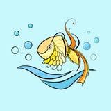 Wenige Schwimmenfische Stockfoto