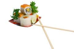 Wenige Sushi Lizenzfreie Stockbilder