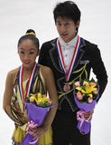 Wenjing Sui and Cong Han of China stock photo