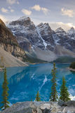 Wenkchemna Peaks and Moraine Lake Royalty Free Stock Photography