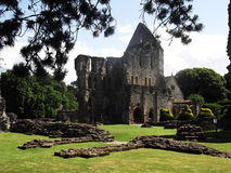 Wenlock Priory, Much Wenlock, Shropshire, England. A view of the ruins of Wenlock Priory and Abbey in the village Much Wenlock, Shropshire in England Royalty Free Stock Photography